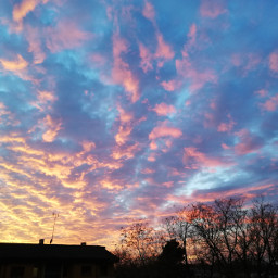 🌄 sunset clouds pinkclouds goldclouds nature sky skylover nofilter myphoto editedbyme