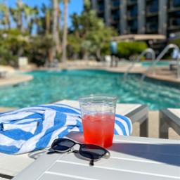 pretty california pool sunny