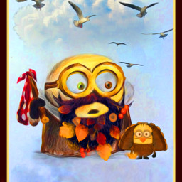 happythanksgiving thanksgiving minions remixofmyremix originalbyme masterstoryteller parietalimagination holiday freetoedit