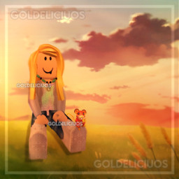roblox edit gfx robloxedit robloxedits robloxgfx robloxgfxgirl robloxgirl robloxian goldeliciuos game videogame art edits arts sunset summer night summernight summersunset vibes chill chillvibes hill clouds