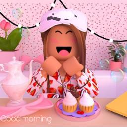 roblox robloxgirl girl gfx piscart pinterestimage pinterest adoptme bloxburg instagram royalehigh meepcity goodmorning breakfast breakfastclub breakfastaesthetic pancake cupcakes cupcake cupcakeday pyjama