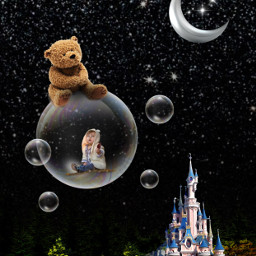 teddybear dreams magical fantasy art freetoedit