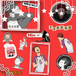 haikyuu!! tendousatori tendou edit victory shiratorizawa youshouldhavecometoshiratorizawa anime animeboy fanart freetoedit haikyuu