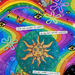 trippy hippie psychedelic art collage 420 freetoedit