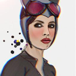 freetoedit catwoman myart drawing illustration