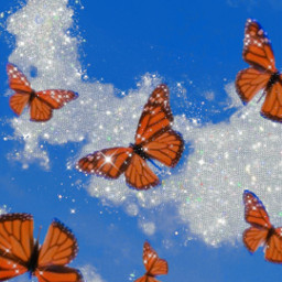 freetoedit butterfly butterflyeffect butterflies butterflys awesome aesthetic aesthetics nature insect blue blueaesthetic background wallpaper remix glitter stars clouds cloud glittery