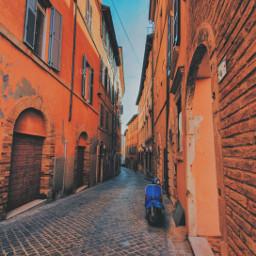 road freetoedit walking walkingaround scooter oldtown nobody