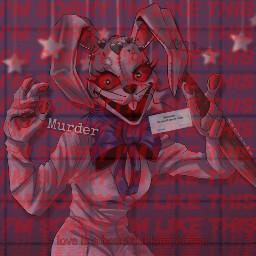 fnaf fnafedit vanny killer murder killerbunny vannyedit killergirl blackheartcrown red redaesthetic freetoedit