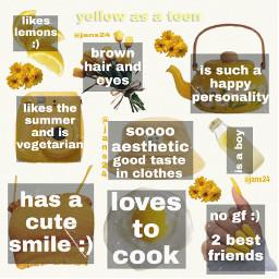 yellow boy aesthetic niche nichememe nichmemepage cute clothes sunshine happy yellowasateen smile gf cooking freetoedit notfreetoedit