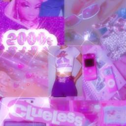 y2k 2000s glitter clueless bratz badass 2000sbaby pink purple cool sticker sunglasses accessories girl luxury boujee freetoedit
