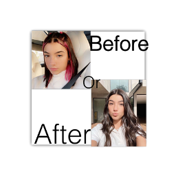 charlidamelio charli hair before after comment tiktok dancer youtube insta instagram social socialmedia pink black short long straight wavy queen freetoedit