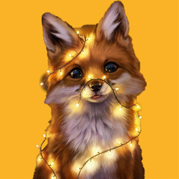 animal fox cute light orange izzy naomi makemefamous soft furry freetoedit