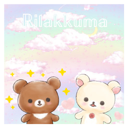 rilakkumakawaii wallpaper rainbowaesthetic cute kawaii hearts pinkcloudsunset freetoedit