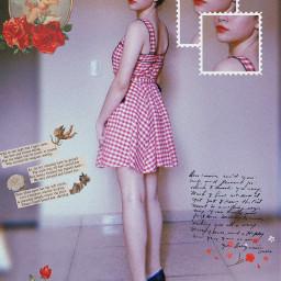 freetoedit lolita vintageaesthetic redaesthetic red