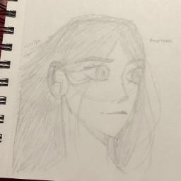 anime drawing doodle art traditionalart animeart sketch oc originalcharacter
