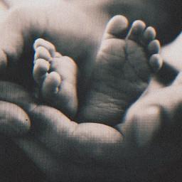 baby child feet hands