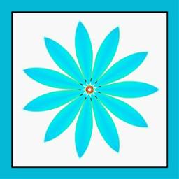 digitalart modernart popart abstractart artisticexpression blue kaleidoscope flower mydesign myedit freetoedit