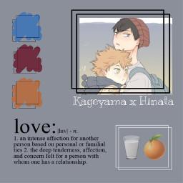 haikyuu kageyama hinata kageyamaxhinata edit kagehina love soulmates anime picsart freetoedit