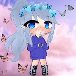 gacha gachalife gachaclub cute mignon lilikittymimi blue heart freetoedit