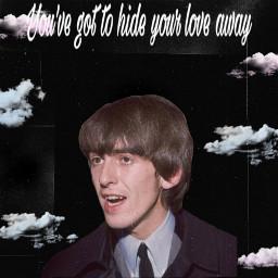 geo georgeharrison rip loveyou thebeatles freetoedit