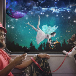 pixie dog subway enchanted freetoedit ecimagineabrighterreality imagineabrighterreality