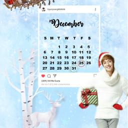 kimhyunjoong decembercalendar winter freetoedit srcdecembercalendar