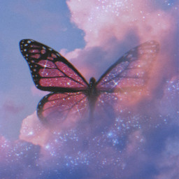 picsart makeawesome sky butterfly galaxy surreal surrealism glitter glitteraesthetic grng heypicsart madewithpicsart skyscape freetoedit