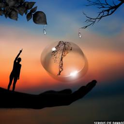 freetoedit tb challenge water hand nature ircfallingleaf fallingleaf