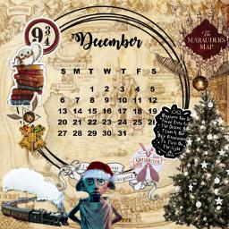 calender calendarchallenge december harrypotter freetoedit srcdecembercalendar decembercalendar