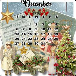 calendarchallenge vintage santa christmas december freetoedit srcdecembercalendar decembercalendar