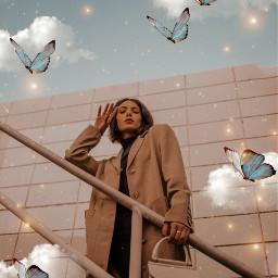 butterfly butterflies fly golden brillos elegant simple fotoedit editbyme edits 20followers model freetoedit