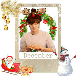 kimhyunjoong christmas december freetoedit