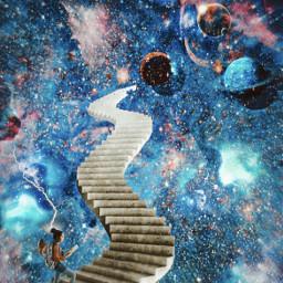 freetoedit galaxy planet surreal collaboration