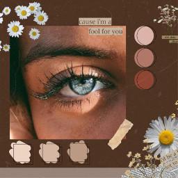eyes blue brown daisy newspaper aesthetic pallete colorful collage freetoedit
