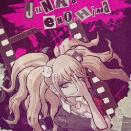 junko junkoenoshima danganronpa despair monokuma anime animegirl blood hope lol manga game follow fff like comment freetoedit