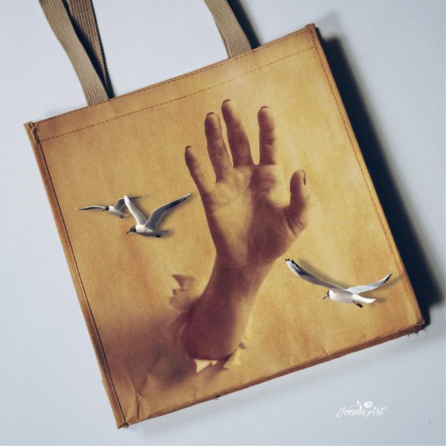 #surreal #bag #hand #birds #myedit #myart #madewithpicsart @picsart #JoannArt #becreative #HeyPicsArt #picsartmaster