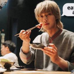 kimhyunjoong eating freetoedit myfavoriteday