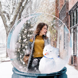 freetoedit snow snowglobe snowy snowflakes winter cold holiday christmas