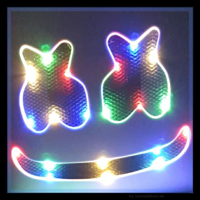 Marshmellow Maske mit LED Beleuchtung  #photooftheday #marshmellow #led #licht #xxba666xx #madewithpicsart #light #multicolor