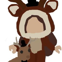 deer adoptme drawing fancy freetoedit