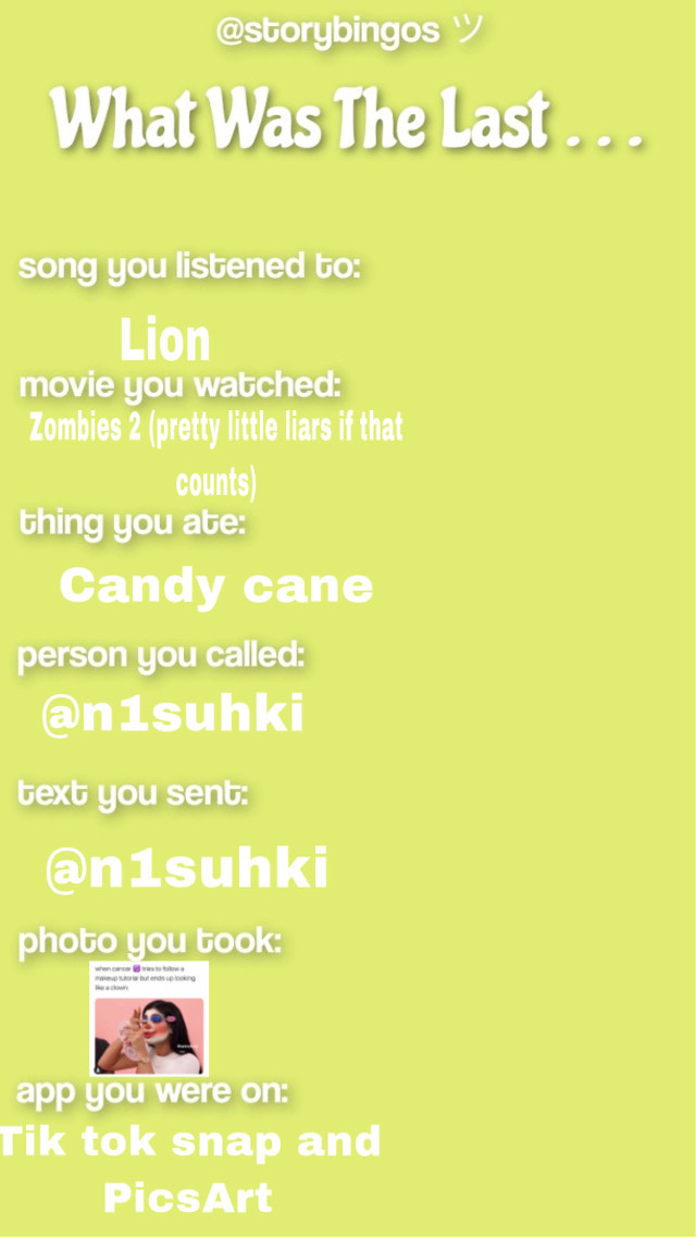 #whatwasthelast @n1suhki follow her she has AMAZING themes
