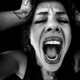portrait bwportrait bw bnw blackandwhite bwphotography portraitphotography woman scream depression depressed depressive depressing photography freetoedit