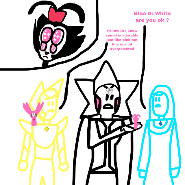 #su #suf #animaniacs #animaniacsreboot #steven #dot #dotwarner #fusion #pink #blue #yellow #white #lightyellow #bluediamond #yellowdiamond #whitediamond #diamonds #spinel #red #redink #pinkred #black #comic #gems #gem