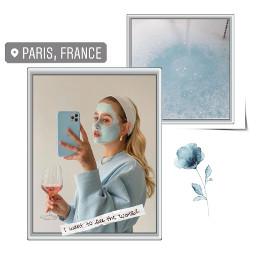 mirrorselfie mirror girl blue babyblue paris france cute art interesting music snow beautiful freetoedit