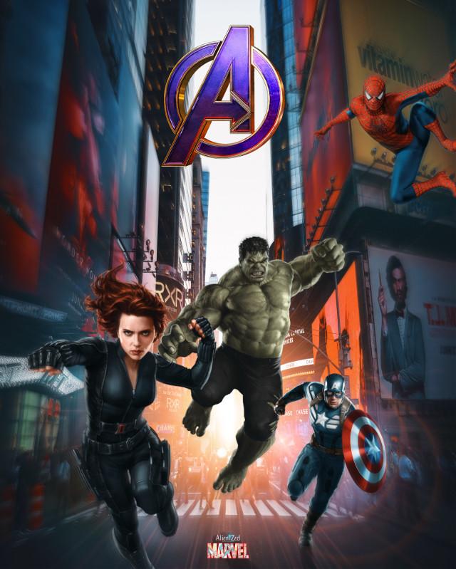 Wish you a super friday night and weekend planet 👋🏻👽👉🏻☕️🍪🍩@PA 😊   #avengers #spiderman #blackwidow #captainamerica #hulk #marvel #fanart #heroes #superheroes #city backgroud picture OP #unsplash #alienized #wallpaper #uhd #editedwithpicsart