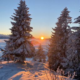 freetoedit switzerland rigi nature romantic snow sunset