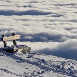 freetoedit winter snow seat dream clouds
