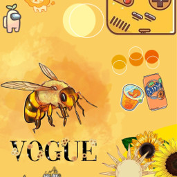 yellow orange wallpaper yellowwallpaper bee yellowasthetic orangewallpaper orangeastetic pretty