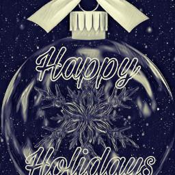 happyholidays ornament freetoedit