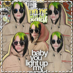 billieeilish singer yellow green song badguy fan freetoedit